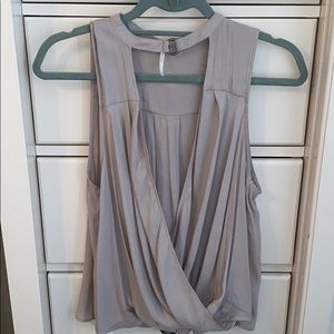 Free People Draped Tank Top with Neck Detail